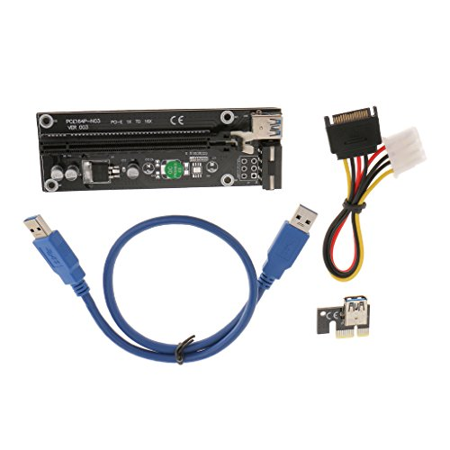 Generic USB3.0 PCI-E Express 1x to16x Extender Riser Board Card Adapter Power Cable  available at amazon for Rs.550