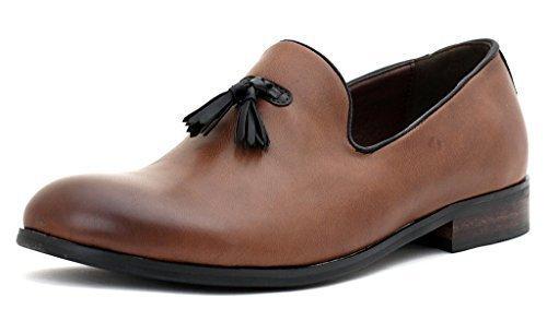 Hommes Robe élégant À Enfiler Mocassins À Glands Décontracté Travail pointure de chaussures Café