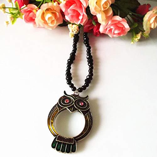 Leselupen Halskette Lupe Modeschmuck Tragbare Luxuslupe Zum Lesen Von Taschenlupe Multifunktionale Lesehilfen, Geschenke für Eltern (Color : B)