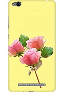 AMEZ designer printed 3d premium high quality back case cover for Xiaomi Redmi 3S (Beautiful Pink Rose In Khaki Background)