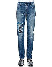 Dolce E Gabbana Homme G6XOLZG8U84S9001 Bleu Coton Jeans