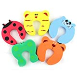 #1: Kidshield 5 Pcs Door Stopper Cartoon For Kids And Baby Safety