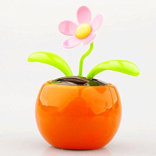 Youmei® Solar Power Flip Klappe Blumentopf für Dekoration Auto Home Ornament Automatische Swing Tanzen Blume Geschenk