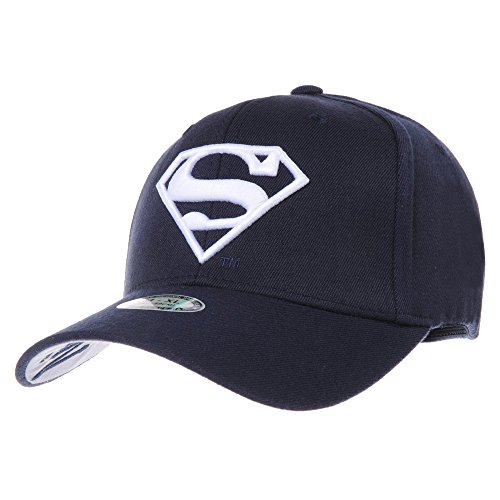 WITHMOONS Baseballmütze Mützen Caps Superman VS Batman Shield Embroidery Baseball Cap AC3260 (NavyWhite, M)