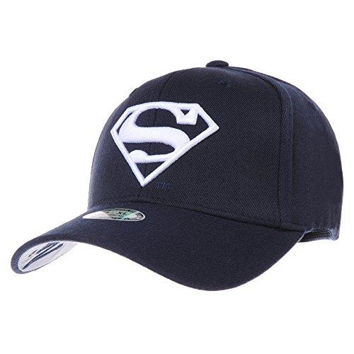WITHMOONS Baseballmütze Mützen Caps Superman VS Batman Shield Embroidery Baseball Cap AC3260 (NavyWhite, M)