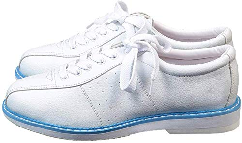Yapott Weiß Bowling Schuhe für Herren Damen Unisex Sports Anfänger Bowling Schuhe Turnschuhe - M, 40