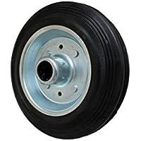 160 mm de goma rueda ruedas de transporte