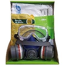Kit General de Protección Pintura Semi Profesinal EPI. Mascara + Prefiltro + Filtros + Gafas