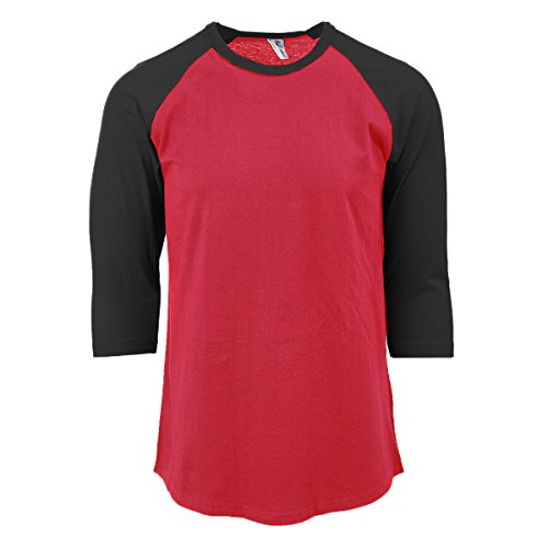 Damen Raglan T-Shirt 3//4 Ärmel Kontrast Baseball Enge Passform WEICHE BAUMWOLLE