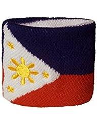 Schweißband Motiv Fahne / Flagge Philippinen + gratis Aufkleber, Flaggenfritze®