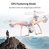 FairytaleMM 4 Ejes S70W Full HD 1080P Dual GPS-2.4GHz WiFi / FPV Drone Quad Copter Aircraft (Color: Blanco)