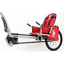 Weehoo Kids 'iGo Turbo remolque bicicleta de adulto bicicleta, Rojo, 4–9años