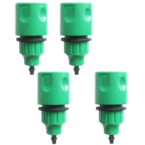 TOOGOO Tuyau D'Arrosage Pipe Adaptateur A Usage Unique Raccord de Connecteur de Robinet pour Irrigation Paquet de 4