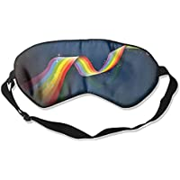 Eye Mask Eyeshade Rainbow Stripe Sleep Mask Blindfold Eyepatch Adjustable Head Strap preisvergleich bei billige-tabletten.eu