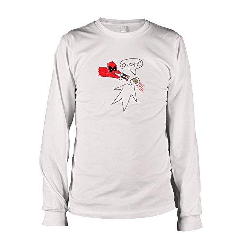 TEXLAB - Pool Zeichnung - Herren Langarm T-Shirt, Größe XXL, (Zeichnungen Kostüme Superhelden)