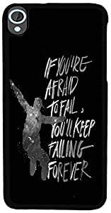 PrintVisa Quotes Attitude Life Back Cover for HTC Desire 820 (2D-HTCD820-D8055)