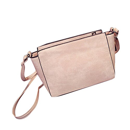 Longra cuoio donne Shoulder Bag Satchel Handbag (Flap Satchel Handbag)