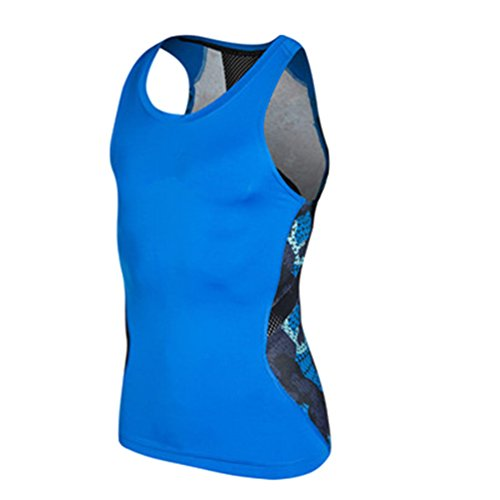 YiJee Sports T-Shirt Herren Kompressionsshirt Base Layer Ärmellos Tank Top XL