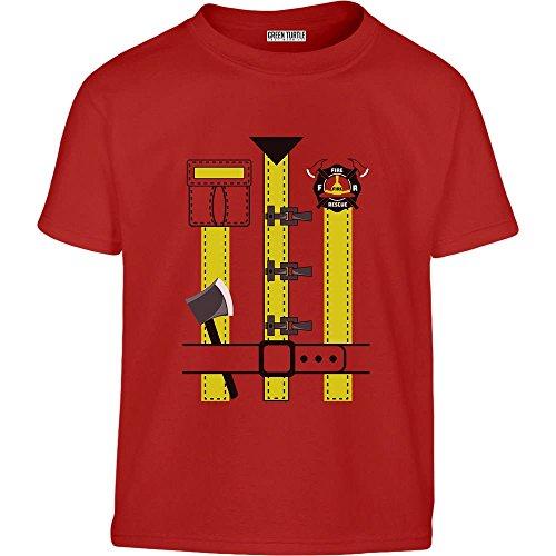 Kleinkind Kostüm Turtle Für - Karneval Feuerwehr Kostüm für Kinder Kleinkind Kinder T-Shirt - Gr. 96/104 (3-4J) Rot
