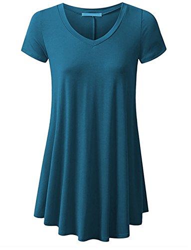 lemongirl-womens-pleated-hem-blouse-tunics