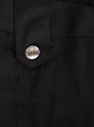 oodji Collection Femme Short en Viscose avec Liens à Nouer Noir (2900N)