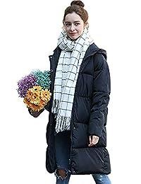 7337fcfa63f9 Pagacat Doudoune Longue Femme Manteau Grosse Parka Hiver Chaud avec Capuche  Veste Loose Winter Outwear Coats