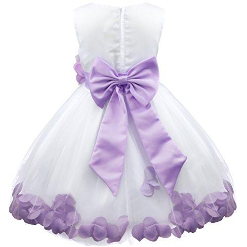 033d12b44 iEFiEL Girl Flower Petals Dress Formal Wedding Bridesmaid Party ...