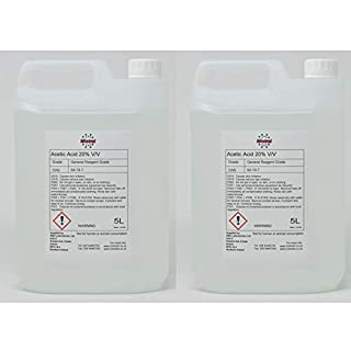 2x5L Mistral Acetic Acid 20% (Ethanoic Acid) - Descaler, Weed killer, Rust and Limescale Remover