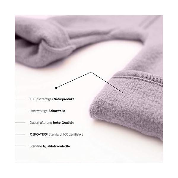 Halfen Wollwalk - Mono para bebé de lana virgen orgánica, 100% fabricado en Alemania, color lila 4
