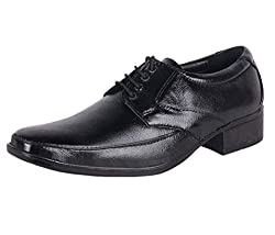 Shoeadda Mens Black Leather Derby Shoes - 6 UK