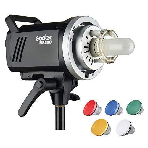 Godox MS300 Studio Strobe 300W GN58 5600K Bowens Mount Monolight, eingebautes Godox 2.4G-Funksystem, 150W-Einstelllampe, hervorragende Ausgangsstabilität, Anti-Vorblitz-Funktion -