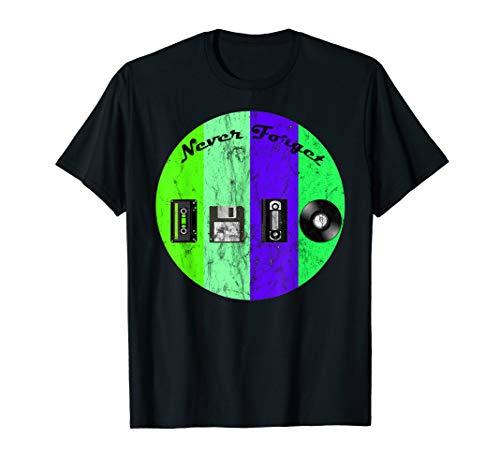 Never Forget Nostalgia Vintage Retro Funny T-Shirt Love T-Shirt