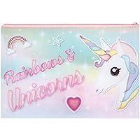 Unicorn Pencil Case Rainbow Kids Girls Children School Primary Junior Fantasy Animal Heart Egg Hunt Gift Present Zip Stationary