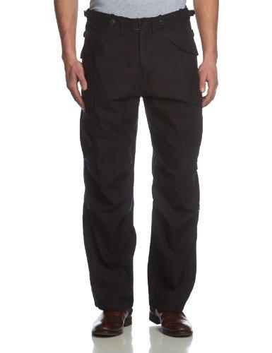 Surplus Vintage Fatigue Trousers - Pantalon - Cargo - Homme Noir (Schwarz Gewaschen)