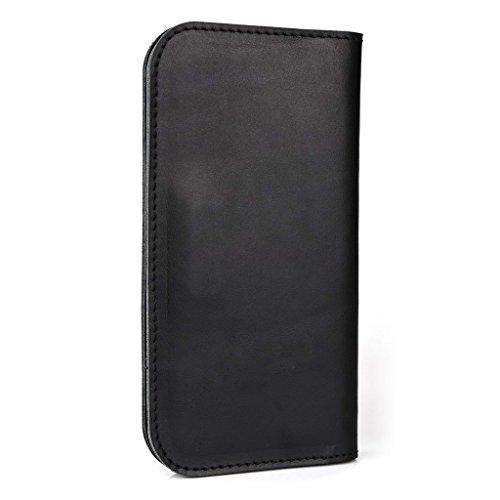 Étui portefeuille en cuir véritable pour Samsung Galaxy Ace Style LTE g357–Housse Brun - peau noir - noir