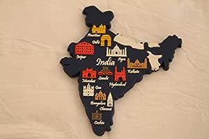 Memory Marg India Silicon Fridge Magnet (Blue)