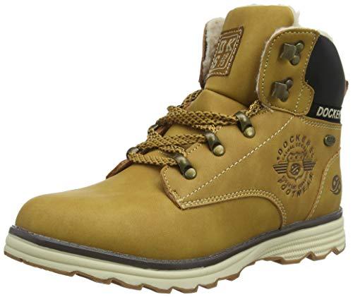 Dockers by Gerli Unisex-Kinder 41TE720 Combat Boots, Gelb (Golden Tan 910), 38 EU
