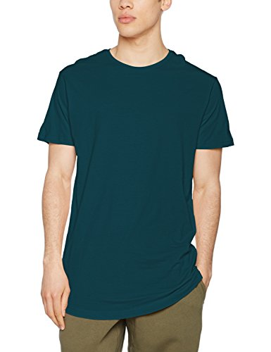 Extra Langes T-shirt (Urban Classics Herren Regular Fit T-Shirt Shaped Long Tee, Grün (Jasper 1149), XX-Large)