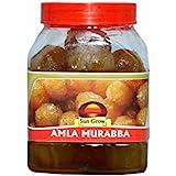 Sun Grow Homemade Organic Amla Murabba with Honey Ingredient:, Fenugreek, Clove, Elam, Crystals, Cardamom (Elichie), Palm Good for Blood Circulation -1 Kg
