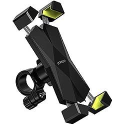 UGREEN Support Téléphone Vélo Moto Porte Guidon Smartphone Rotation 360 Degrés Compatible avec iPhone XS XR X 8 7 6 Samsung S10 S9 S8 Plus Note 9 A10 A40 J6 Huawei P20 Lite P Smart Redmi Note 7