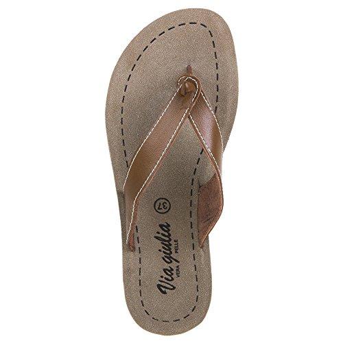 Damen Schuhe, 16090, SANDALEN Braun