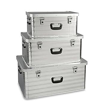 Enders Toronto Storage Box Set 3 (47 l, 80 l, 130 l), Silver