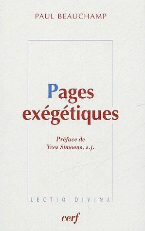 Pages exégétiques