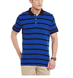 Yepme Men's Blue Cotton Polos - YPMPOLO0375_M
