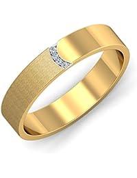 KuberBox Yellow Gold and Diamond Ring for Men