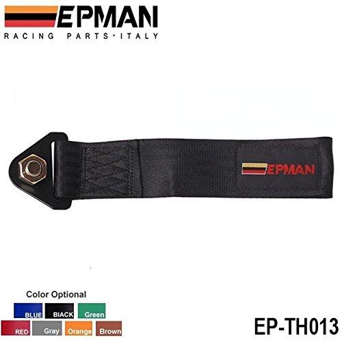 epman-Nero Universale ad alta resistenza Racing traino traino cinghia gancio anteriore paraurti posteriore camion auto (Gancio Traino Staffa)