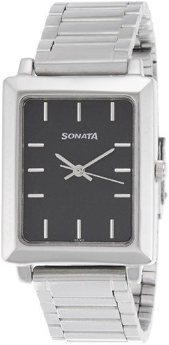41MK9KmsZQL - Sonata NF7078SM04 Classic Mens watch