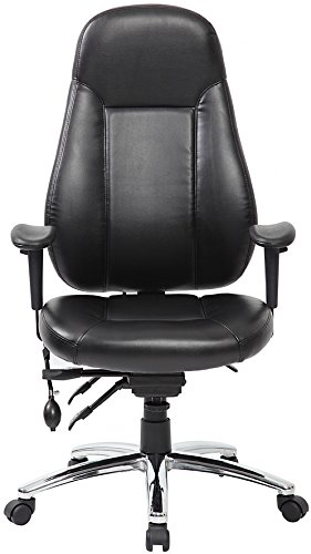 Get Beta 24 Hour Leather Task Chair – Black Leather