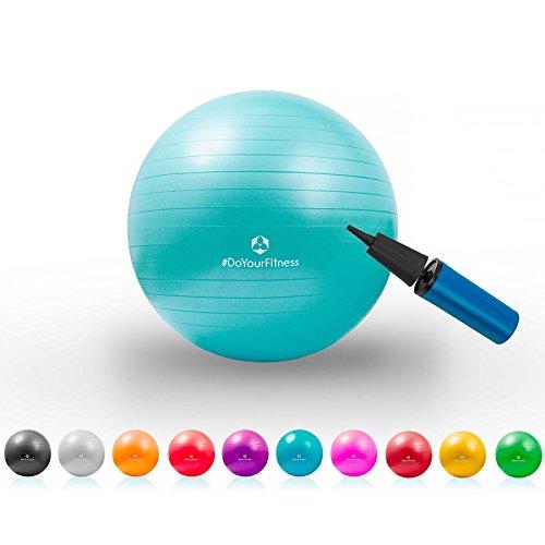 Ballon de gymnastique »Pluto« de #DoYourFitness / idéal pour la gymnastique le yoga le pilates et le fitness / haute qualité ballon siège et ballon de fitness robuste écologique hypoallergénique préserve les articulations extrêmement...