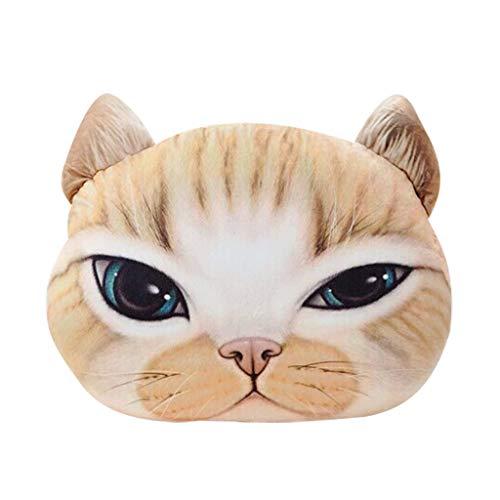 Hniunew_Möbel Katzenkissen Warme Handauflage Sofakissen Kissen Personalisiertes Kissen Cat Bild Kissenbezug 33 * 38Cm Baumwolle Und Leinen KissenhüLle Kopfkissen Waschbares Kissen Isomatte